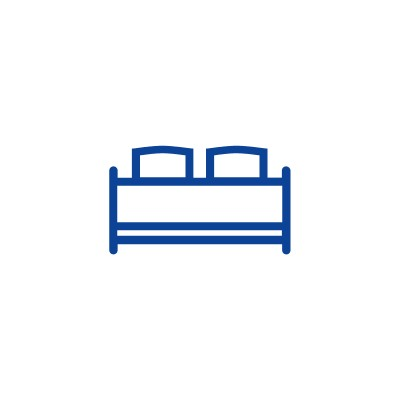 Bed Icon that represents American Cancer Society Hope Lodges