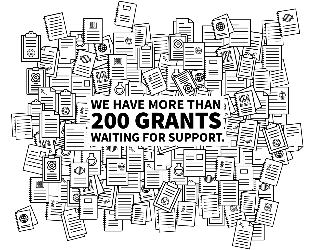 200 grants waiting for support graphic